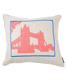 Tower Bridge cross-stitched cushion | Liberty of London