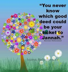 any good deed small or big could be your ticket to JANNAH~ Religious Quotes, Islamic Quotes, Arabic Quotes, Islamic Art, Christmas Traditions, Christmas Gifts, Holiday, Still Waiting For You, Islam Women