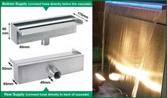 This high quality cascading blade and planter is crafted from grade 304 stainless steel. This brilliantly designed piece will add a contemporary feel to any garden, whilst also appealing to the corporate sector with its smart lines and sleek appearance. This stainless steel wat