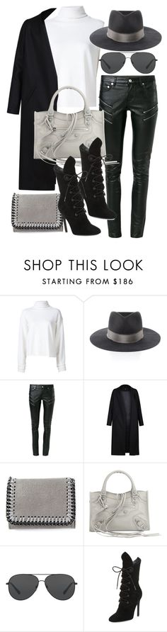 """""""Untitled #20372"""" by florencia95 ❤ liked on Polyvore featuring The Elder Statesman, Janessa Leone, Yves Saint Laurent, Non, STELLA McCARTNEY, Balenciaga, Michael Kors and Kendall + Kylie"""