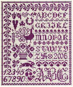 Gallery.ru / Photo # 6 - Facon Quaker - Labadee Cross Stitch Sampler Patterns, Cross Stitch Freebies, Embroidery Sampler, Cross Stitch Borders, Cross Stitch Samplers, Cross Stitch Designs, Cross Stitch Charts, Cross Stitching, Cross Stitch Embroidery