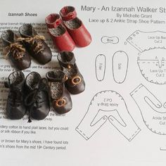 Writing up the shoe patterns today for my #izannahwalker workshop students, it's always nice to finish a project off! #dollshoes #worktable #leather #handmade #dollsize #dollmaking #redshoes #black #brown #sewingtinythings