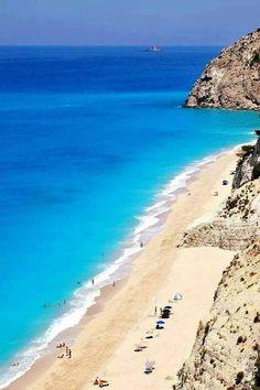 Egremni beach, Lefkada #GREECE