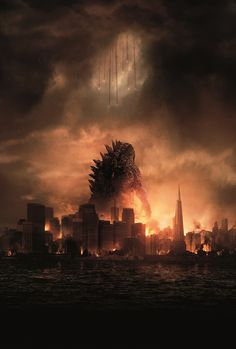 New Official Godzilla 2014 poster - TEXTLESS