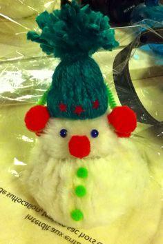 Bonhommes de neige en tissus