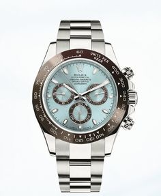 Rolex Daytona in Platinum ref 116506 - The new Rolex Daytona, which is currently on display at BaselWorld 2013, features a Cerachrom bezel and comes with a gorgeous glacier blue dial.