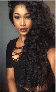 "Deep wave hair extensions, long length. 4x28"" Brazilian virgin hair"