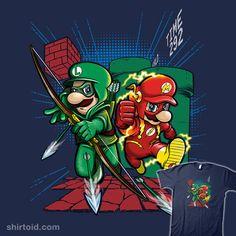 Super Suits #arrow #comic #comics #dccomics #film #gaming #greenarrow #luigi #mario #mattyrogers #movie #nintendo #poopsmoothie #superhero #supermariobros #theflash #tvshow #videogame
