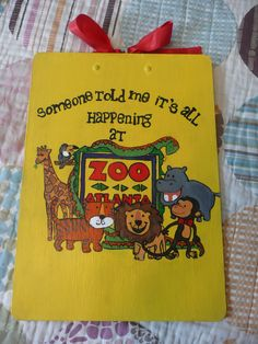 """Thank you"" clipboard I made for my boss after my internship at Zoo Atlanta :)"