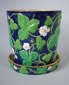 Minton Majolica Strawberry Jardiniere