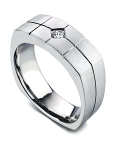 The Rapture ring has a satin finish and contains 1 diamond, totaling 0.15ct.