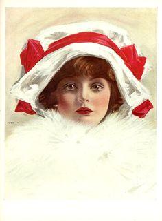 #henryhutt #beautiful #Girl #woman #sleigh #Ride #antique #vintage #Print #oakwoodview #evt by OakwoodView