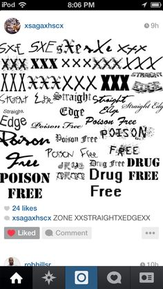 Straight edge graffiti