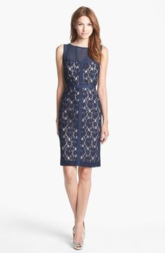 Taylor Dresses Lace Sheath Dress available at #Nordstrom