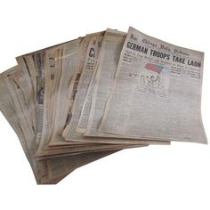 48 Laminated Newspapers from 1940s ($255) ❤ liked on Polyvore featuring home, home decor, filler, art books y c.r.a.f.t.