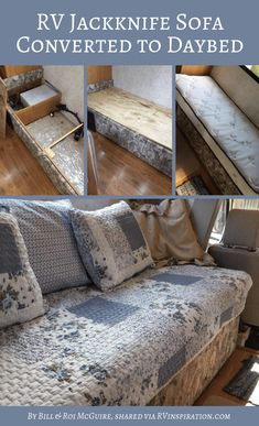 RV Sofa Bed Replacement Ideas (w/ Pictures) Rv Sofa Bed, Diy Sofa, Sleeper Sofa, Daybed, House Furniture Design, Sofa Furniture, Furniture Movers, Cheap Furniture, Unique Furniture