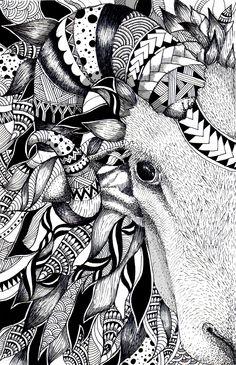 Zentangle Sheep by Noah's ART  https://www.facebook.com/pages/Noahs-ART/154658641235702