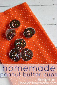Homemade Peanut Butter Cups :: Recipes on HoosierHomemade.com