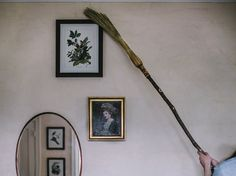 Cobweb Broom / Small Ritual Besom - Only Available In Natural Color - Cobb Broom - Ceiling Broom - Corner Besom Broom Corn, Witch Broom, Sticky Web, Sweeping Broom, Pagan Decor, Witch Decor, Organic Cleaning Products, Modern Witch, Hearth And Home