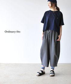 【楽天市場】ORDINARY FITS オーディナリーフィッツ BALL PANTS summer wool/サマーウール ボールパンツ ワイドパンツ ガウチョパンツ・ol-p019【2016春夏】【送料無料】[532P19Apr16]:Crouka(クローカ)