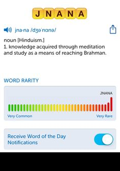The best word I've seen today on Words with Friends is 'jnana'. Can you come up with a better one?