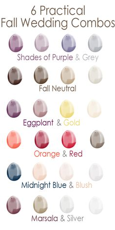 6 practical wedding color ideas for fall 2015