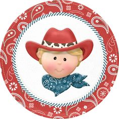 Shop Cowboy Birthday Large Paper Plates created by Birthday_Stores. Clipart Boy, Cute Clipart, School Clipart, Cowgirl Party, Cowboy And Cowgirl, Cowboy Christmas, Cowboy Birthday, Family Picnic, Kids Birthday Cards