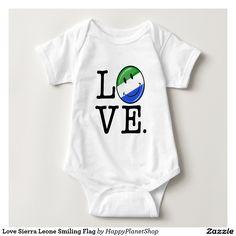 Love Sierra Leone Smiling Flag Tee Shirt