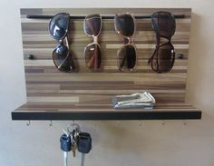 Sunglass Rack Sunglass Organizer Key Holder by ProjectsbyPapaP