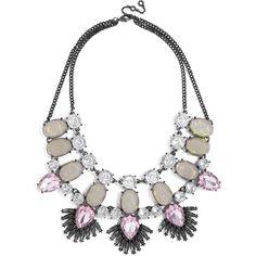 BaubleBar Phoenix Bib (1.155 RUB) ❤ liked on Polyvore featuring jewelry, necklaces, bib necklaces, bib statement necklace, oversized necklace, gem statement necklace and baublebar jewelry