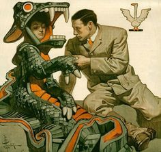 Guys i am OBSESSED with this illustration by Leyendecker omg where do i even start American Illustration, Illustration Art, Jc Leyendecker, Wow Art, Norman Rockwell, Art Graphique, Illustrations, Belle Photo, Graphic