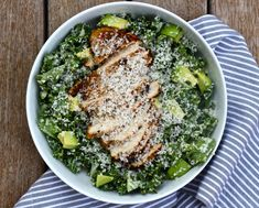 Kale Chicken Caesar Salad – The Defined Dish