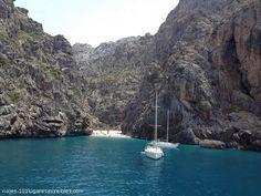 SA CALOBRA BEACH - Mallorca Island, Spain - http://destinations-for-travelers.blogspot.com/2013/06/sa-calobra-playa-en-el-municipio-de-escorca-isla-de-mallorca-espana.html