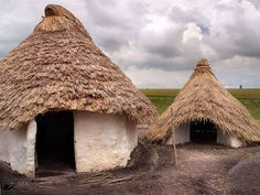 Neolithic (New Stone Age) Houses, Stonehenge, Wiltshire Stonehenge Visitor Centre, Stone Age Houses, Country Living Magazine, Natural Building, Round House, Types Of Houses, Little Houses, Archaeology, Building A House