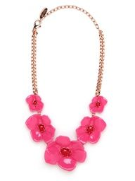 Spotted in Womens Wear Daily... the DKNY + BaubleBar Pink Poppy Bib!
