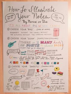 How to illustrate your notes- by revise or die