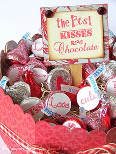 the best kisses are chocolate valentine's day diy gift