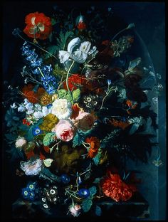 My inspiration for the whole thing: Dutch still life painting by Jan van Huysum.