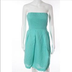 J. Crew dress! Gorgeous j. crew dress! Lined, size 10 and new with tags. Sea foam color, textured material and it has pockets! Perfect dress! Non smoking home. Make an offer!! This is sold out online. J. Crew Dresses