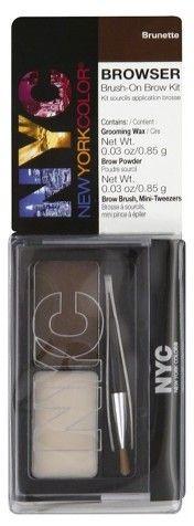 Browser Brow Kit, Brush-On, Brunette 1 kit - Kmart Makeup Dupes, Eyebrow Makeup, Beauty Makeup, Brow Kit, Brow Brush, Best Eyebrow Products, Beauty Products, Eyebrow Stencil, Brow Powder