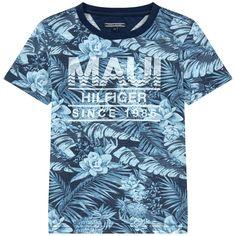 T-shirt imprimé en jersey flammé - 162944