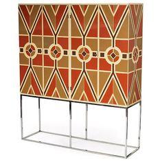 Tommi Parzinger, double bar cabinet on stand for Parzinger Originals, c1970s.