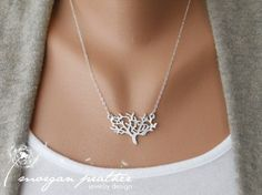 Dainty Tree Necklace in silverdelicate silver by