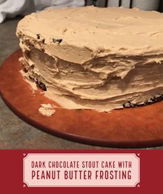 https://findingtimeforcooking.com/2017/10/29/chocolate-stout-cake-peanut-butter-frosting/ Peanut Butter Birthday Cake, Peanut Butter Frosting, Chocolate Stout Cake, Chocolate Peanut Butter, Easy Cake Recipes, Sweet Recipes, Custard Recipes, Birthday Cakes, Special Occasion