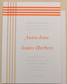 This fresh Smitten on Paper invite is inspired by a colorful plaid design.