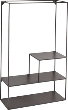 Shop outside the box wall mounted stand. Three fixed, open frame stair-stepped shelves add an industrial sheen anywhere you need extra storage. Modern Wall Sconces, Modern Wall Decor, Modern Shelving, Wall Boxes, Modern Bar Stools, Counter Height Stools, Shop Interiors, Wall Shelves, Mounted Shelves