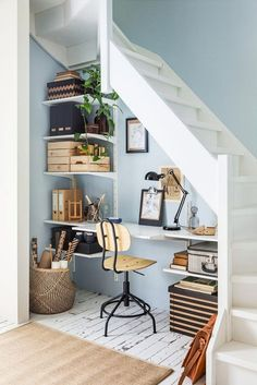25 ways to setup a home office in 24 hours or less 15 Space-Saving Under Stairs Home Offices You Need To See - Top Dreamer Decor, House Design, House, Home, New Homes, House Interior, Home Office Design, Home Deco, Interior Design