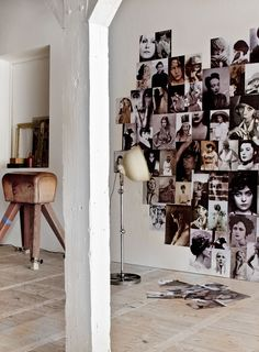 DIY: HEART SHAPED PHOTO WALL | THE STYLE FILES