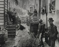 Slum Life In New York City During the Nineteenth Century's Gilded Age -- Bandits Roost, a Mulberry Street back alley