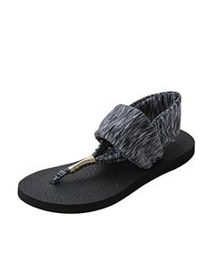 027d8c9d1f TS Womens Cozy Meditation Sandals Slingback Yoga Flip Flop US6 grey **  Check out this